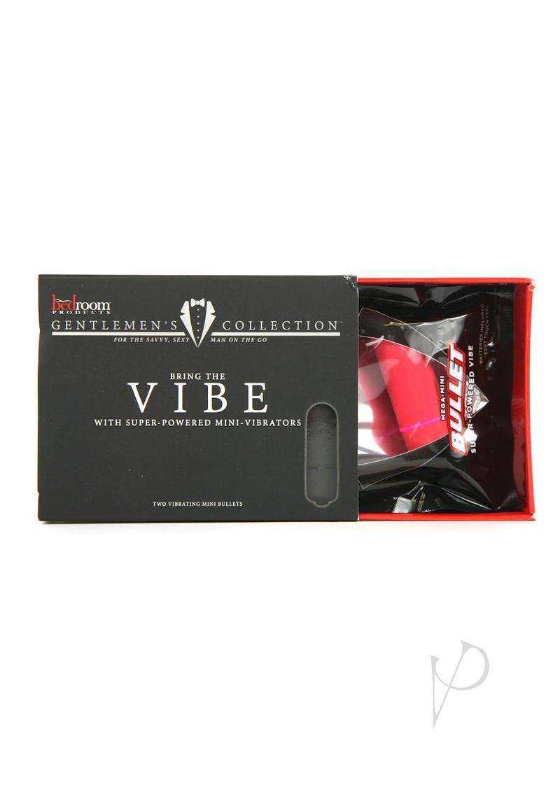 Bedroom Products Gentlemen`s Collection Vibe With Super Powered Mini Vibrators 2 Per Box Black And Red